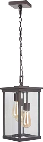 """discount Craftmade Z9721-OBO Riviera outlet sale Outdoor Glass Pendant Lighting, 3-Light, lowest 180 Watts, Oiled Bronze (8""""W x 16""""H) sale"""