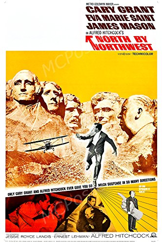 MCPosters North by Northwest GLOSSY FINISH Movie Poster - MCP431 (24' x 36' (61cm x 91.5cm))