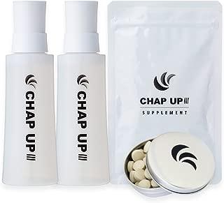 【医薬部外品】チャップアップ(CHAPUP) 返金保証付 薬用育毛剤(育毛ローション) 2本 ・サプリメント 1袋 特製携帯サプリメント缶セット