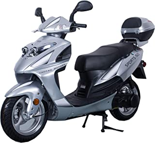 X-PRO 150cc Moped Scooter Street Scooter Gas Moped 150cc Adult Scooter Bike (Silver)