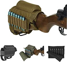 Wsobue Rifle Buttstock, Hunting Shooting Tactical Cheek Rest Pad Ammo Pouch with 7 Shells Holder
