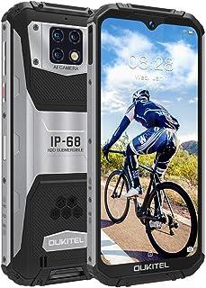 OUKITEL WP6 SIMフリースマートフォン防水防塵耐衝撃防災 スマホ本体 10000mAhバッテリー6GB RAM 128GB ROM 48MP AI 3カメラHelio P70オクタコアプロセッサー6.3インチFHD+ 画面2340 ...