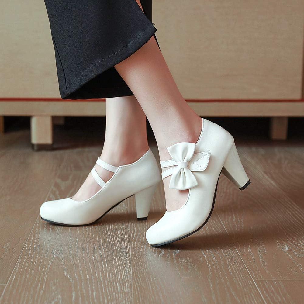 VulusValas Femmes Sweet Mary Jane Chaussures Fleur