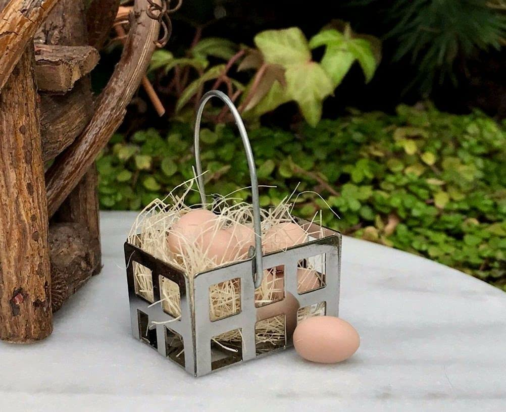 SYTZ Miniature Dollhouse Fairy Garden Accessories Selling and selling Cheap wit Basket Egg