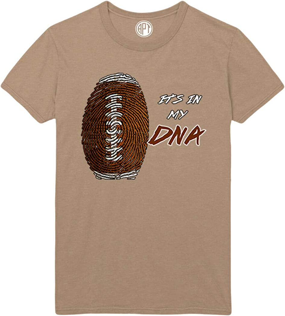 Football It's in My DNA Printed T-Shirt - Sand - 2XLT