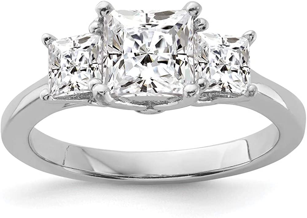 925 Sterling Inexpensive Silver Cubic Zirconia Cz 3 Sales Ring Stone Engageme Band