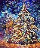 Puzzle de madera para adultos 1000 piezas, árbol de Navidad () Tangram Puzzle Ocio Juego creativo Juguete Q