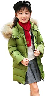 SITENG Girls' Kids Winter Fur Hooded Down Coat Puffer Jacket Parka 9 10 11 12 Years Overcoat Big Girls