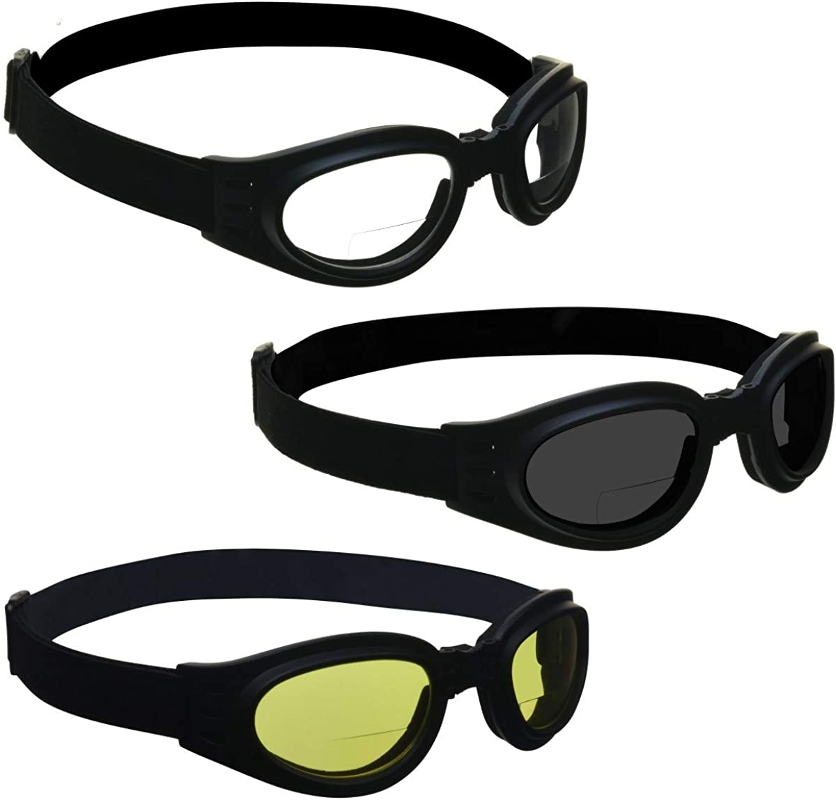 BIKERSHADES Safety Bifocal Be super welcome Sunglass Readers Max 62% OFF Foldable Pad Goggles