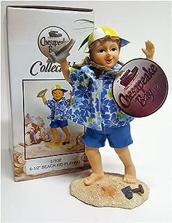 Chesapeake Bay Ltd. Collectible Beach Kid Playing Figurine 6.5