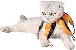 HXINFU Cat Christmas Jester Collar Christmas Dog Collar Christmas Costume Pet
