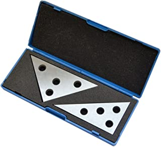 2 Pc Solid Precision 30-60-90 Degree Angle and 45-45-90 Degree Angle Plates