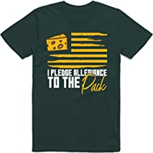 INKpressionists Green Bay Football Fans - I Pledge Allegiance to The Pack Flag Classic T-Shirt