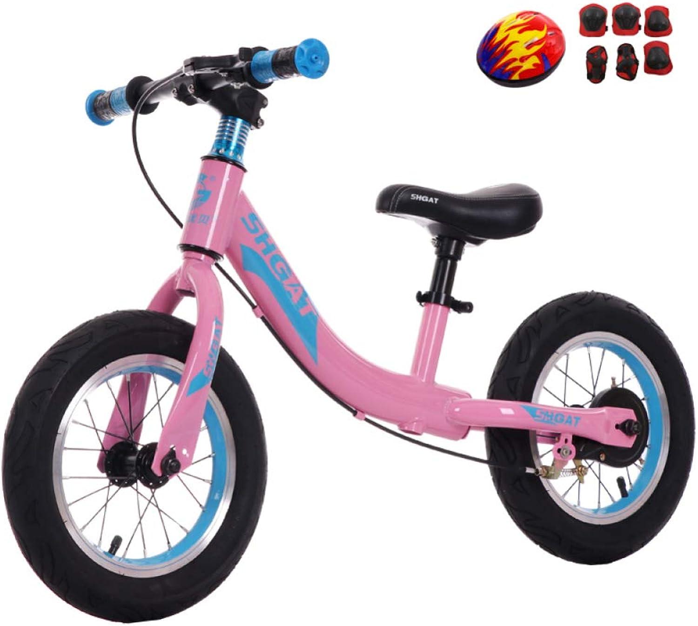 CHRISTMAD Balance Bike Für Kid Sports 12 Zoll No Pedal Fahrrad Mit Verstellbarem Lenker Und Sitz Für Alter Von 2 Bis 7 Jahren Mit Schutzausrüstung,rot