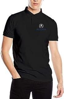 Syins Men's Personalized Comfortable Acura Logo Short Sleeve Fashion Polo Shirt Black