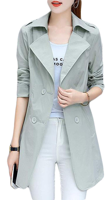 BSCOOLトレンチ コート レディース 春 薄手 無地 コート スプリングコート ブレザーネック テーラードジャケット