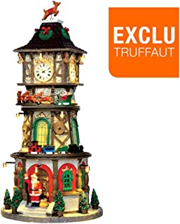 Lemax Village Collection Christmas Clock Tower with Adaptor # 45735