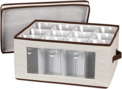 Household Stemware Chest/Goblet canvas with trim