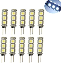 Kyson 10 X 12V White G4 13SMD 5050 LED Bi-Pin RV Marine Boat Camper Light Bulb Lamp