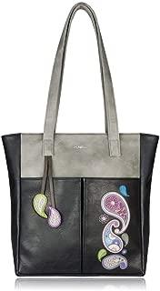 ESPE Passion Women's Vegan Leather Tote Handbag With Hanging Charm