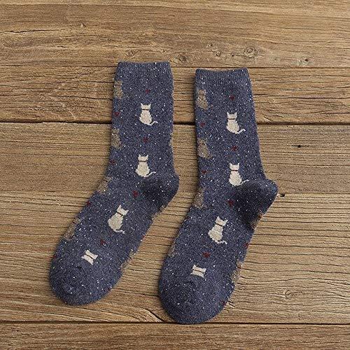 2 Pares de Calcetines para Hombres y Mujeres Calcetines de Felpa cálidos Gruesos de Invierno Calcetines de Tubo para Mujer Calcetines de Piso Calcetines de Toalla-a31