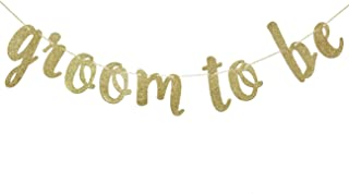 Groom to Be Banner for Bachelorette Wedding Bridal Shower Party Decorations Gold Glitter