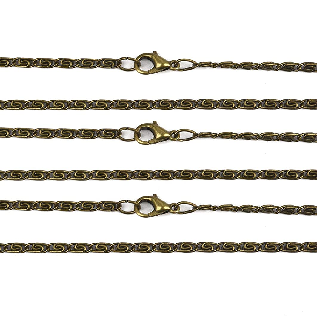 Jewelry Making Chains Twisted Chain With Lobster Clasp Jewelry Chains Bulk DIY Findings Necklace Accessory 20Pcs #5