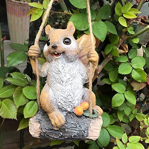 Standbeelden Ornamenten Swing Eekhoorn Tuindecoratie Simulatie Dier Hars Standbeeld Villa Binnenplaats Kleuterschool Micro Landschap