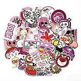 HONGC Bonito Estilo Rosa Graffiti Flamingo Pegatinas Coche y Maleta Cool Laptop Skateboard Sticker para niñas 50 unids/Set