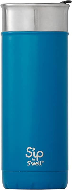 S'ip by S'well 20316-A18-03540 Stainless Steel Travel Mug, 16oz, Jersey Blue