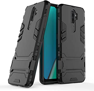 FanTing Case for Oppo A9 (2020)/A5 (2020), Rugged and shockproof,with mobile phone holder, Cover for Oppo A9 (2020)/A5 (2020)-Black
