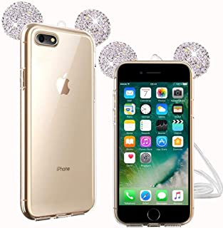 2b8e5ed321e TVVT Purpurina Funda Orejas Compatible con Funda iPhone 6 Plus / 6S Plus,  3D Oreja