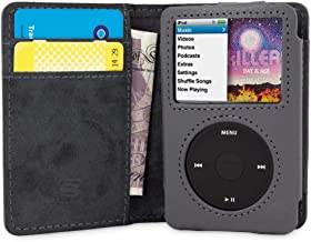 iPod Classic Case, Snugg Grey Leather Flip Case [Card Slots] Executive Apple iPod Classic Wallet Case Cover and Stand - Legacy Series