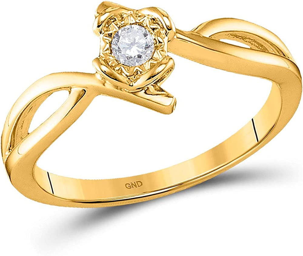 Dazzlingrock Collection 10kt 5 ☆ very popular Yellow Store Gold Diamond So Womens Round
