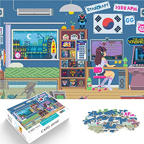 Game Peripheral Puzzle D.Va Puzzle 1000 Pieces of 52x38cm Medium Wood Medium Difficulty Decorate Gifts for The Most Meaningful Memories.