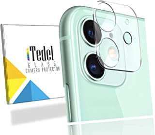 iTedel 3D Camera Lens Protector for iPhone 11, HD Clear Tempered Glass 9H Anti-Scratch Anti-Fingerprints with Smooth Touch...