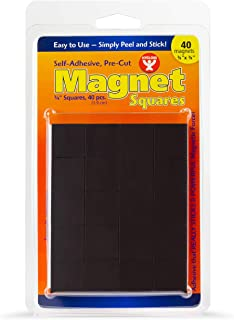 Hygloss Products, Inc Self-Adhesive Magnet Squares, 40 Pcs, Piece