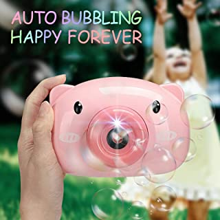 Bubble Machine for Kids Pig Camera Shape Automatic Bubbling Toy for Children with Le'd Sound Outdoor Activity Summer Toys ...