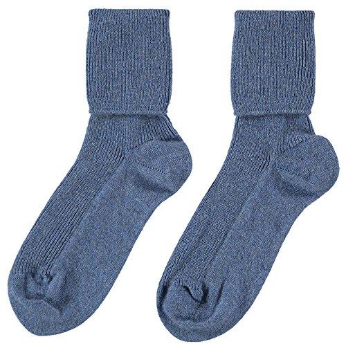 Johnstons of Elgin for ScotlandShop Damen Socken blau Jeansblau One size
