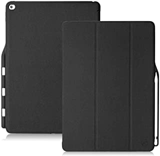 Maxace Pro 12.9 Case Compatible Apple iPad Pro 12.9-Inch (2015 & 2017 Model), iPad Pro 12.9 Case Stand Folio Cover with Multiple Viewing Angles, Auto Sleep/Wake, with Apple Pencil Holder - Black