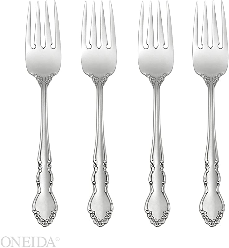 Oneida Dover Fine Flatware Set 18 10 Stainless Set Of 4 Salad Forks