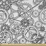 ABAKUHAUS Steampunk Satin Stoff als Meterware,