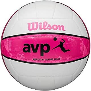 Wilson AVP Recreational Series Replica Game Ball Beach Volleyball - White/Pink