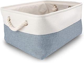 Mangata Grandes boîtes de Rangement, paniers de Rangement en Tissu avec poignées en Corde de Coton pour placards, étagères...