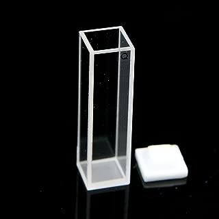 Fluorescence Quartz Cuvette Cell, 10mm, Teflon Lid, for Fluorometer