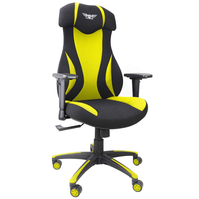 游戏办公椅,网布赛车椅,符合人体工程学电脑桌椅,带升降头枕和扶手 51
