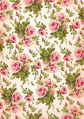 Cadence Papel de Arroz Fondo Rosas 30x41 cm.