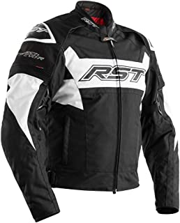 RST 2048 Tractech Evo R Textile Waterproof Motorcycle Jacket - White/Black 40
