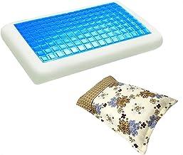 موون مخدة جل الطبية الباردة مقاس 70x40 سم مع غطاء وسادة فارغ مقاس 75x50 سم ، KPCM-002