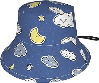 Lsjuee - Cappello da sole a forma di stelle per bambini, traspirante, estivo, colore: nero